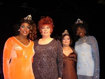 Symphony Alexander-Love, Krystal St. Clair, Ming Vaz and Jade' at the 2008 Miss Gay Heart of Ohio America pageant.