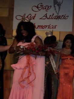 Symphony Alexander-Love after being crowned Miss Gay Mid Atlantic America 2010