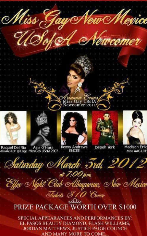 Show Ad | Miss Gay New Mexico USofA Newcomer | 3/3/2012