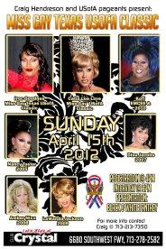 Show Ad | Miss Gay Texas USofA Classic | Crystal (Houston, Texas) | 4/15/2012