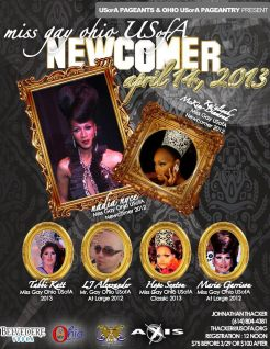 Show Ad | Miss Gay Ohio USofA Newcomer | Axis Night Club (Columbus, Ohio) | 4/14/2013