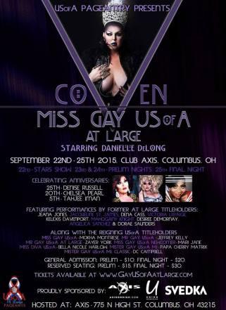 Show Ad   Miss Gay USofA at Large   Axis Night Club (Columbus, Ohio)   9/22-9/25/2015