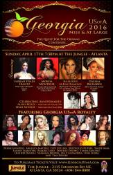 Show Ad | Miss Gay Georgia USofA & at Large | Jungle (Atlanta, Georgia) | 4/17/2016