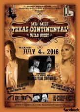 Show Ad   Mr. and Miss Texas Continental   The Josephine Theatre (San Antonio, Texas)   7/4/2016