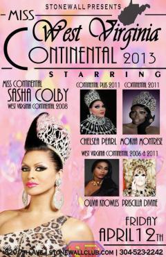 Show Ad | Miss West Virginia Continental | Stonewall Club (Huntington, West Virginia) | 4/12/2013