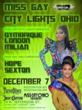 Show Ad   Miss Gay City Lights Ohio   Masque (Dayton, Ohio)   12/7/2014