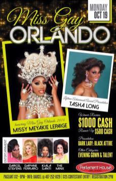 Show Ad   Miss Gay Orlando   Parliament House (Orlando, Florida)   10/19/2015