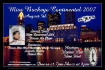 Show Ad | Miss Buckeye Continental |Axis (Columbus, Ohio) | 8/5/2007