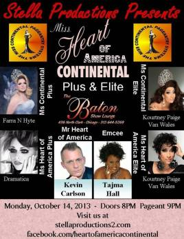 Show Ad | Miss Heart of America Continental Plus & Elite | The Baton Show Lounge (Chicago, Illinois) | 10/14/2013