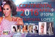 Show Ad | Mr. and Miss Iowa Continental | Belle's Basix (Cedar Rapids, Iowa) | 4/9/2016