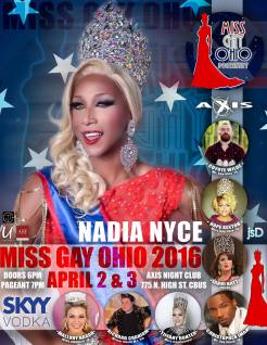 Show Ad   Miss Gay Ohio   Axis Night Club (Columbus, Oho)   4/2-4/3/2016