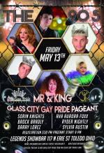 Show Ad | Mr. and King Glass City Gay Pride | Legends Showbar (Toledo, Ohio) | 5/13/2016