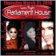 Show Ad | Parliament House (Orlando, Florida) | 3/31/2016