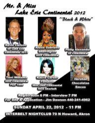 Show Ad | Mr. and Miss Lake Erie Continental | Interbelt Nite Club (Akron, Ohio) | 4/22/2012