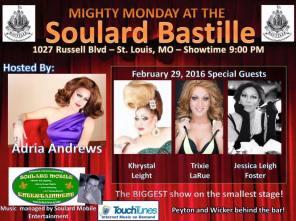 Show Ad   Soulard Bastille (St. Louis, Missouri)   2/29/2016