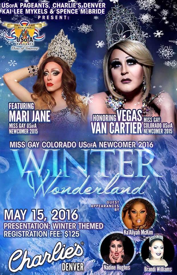 Show Ad   Miss Gay Colorado USofA Newcomer   Charlie's (Denver, Colorado)   5/15/2016