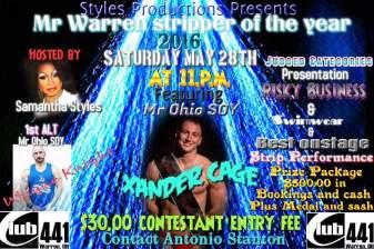 Show Ad | Mr. Warren Stripper of the Year | Club 441 (Warren, Ohio) | 5/28/2016