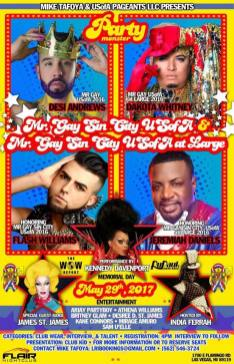Show Ad | Mr. Gay Sin City USofA and Mr. Gay Sin City USofA at Large | Flair Nightclub (Las Vegas, Nevada) | 5/29/2017