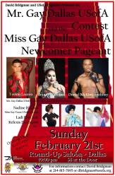Show Ad | Mr. Gay Dallas USofA and Miss Gay Dallas USofA Newcomer | Round-Up Saloon (Dallas, Texas) | 2/21/2016