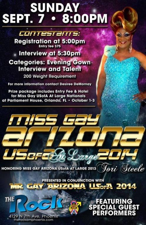 Show Ad   Miss Gay Arizona USofA at Large   The Rock (Phoenix, Arizona)   9/7/2014