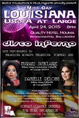 Show Ad | Miss Gay Louisiana at Large | Quality Hotel (Houma, Louisiana) | 4/24/2015