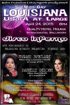 Show Ad   Miss Gay Louisiana at Large   Quality Hotel (Houma, Louisiana)   4/24/2015