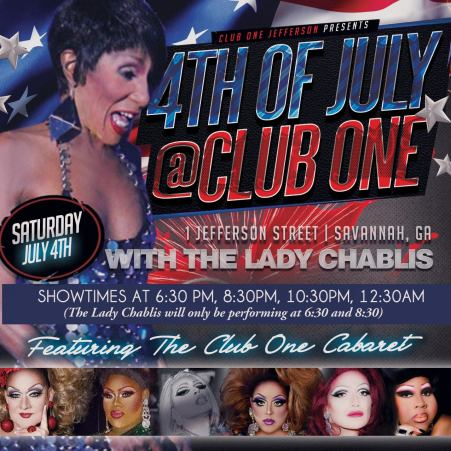 Show Ad | Club One (Savannah, Georgia) | 7/4/2015