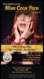 Show Ad | Miss Coco Peru and Friends | Ibiza Nightclub (Nashville, Tennessee) | 4/17/2016