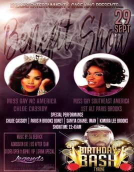 Show Ad | Legends (Raleigh, North Carolina) | 9/29/2016