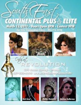 Show Ad | Miss Southeast Continental Plus & Elite | Revolution Night Club (Orlando, Florida) | 3/13/2011