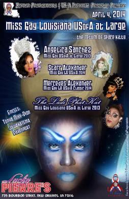 Show Ad | Miss Gay Louisiana USofA at Large | Lucky Pierre's (New Orleans, Louisiana) | 4/4/2014