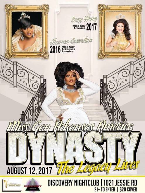 Show Ad | Miss Gay Arkansas America | Discovery Nightclub (Little Rock, Arkansas) | 8/12/2017