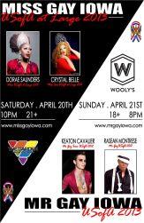 Show Ad | Miss Gay Iowa USofa at Large and Mr. Gay Iowa USofA | 4/20-4/21/2013