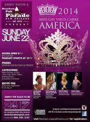 Show Ad | Miss Gay Vieux Carre America | Bourbon Pub (New Orleans, Louisiana) | 6/22/2014