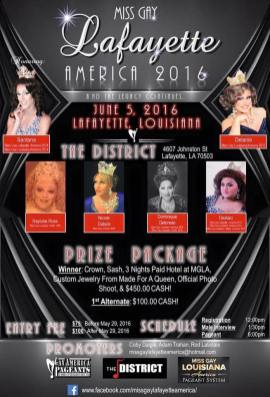 Show Ad   Miss Gay Lafayette America   The District (Lafayette, Ohio)   6/5/2016