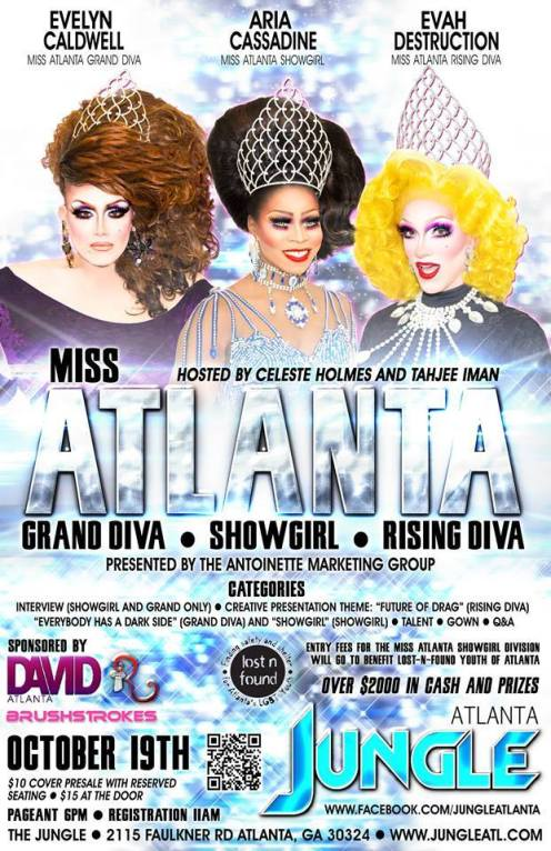 Show Ad | Miss Atlanta Grand Diva, Show Girl and Rising Diva | Jungle (Atlanta, Georgia) | 10/19/2014