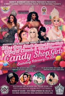 Show Ad   Miss Gay South Central States USofA, USofA Classic and USofA Newcomer   Round Up Saloon (Dallas, Texas)   2/7/2016