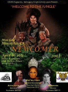 Show Ad | Miss Gay Illinois USofA Newcomer | Club Station House (Springfield, Illinois) | 4/6/2013
