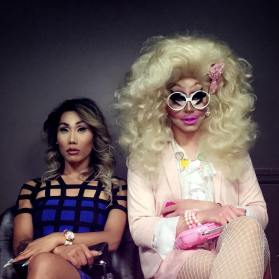 Gia Gunn and Trixie Mattel