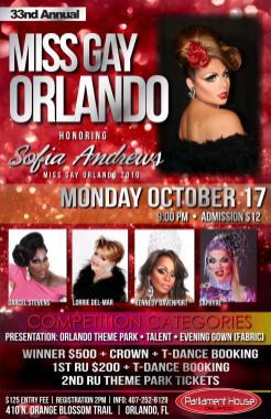 Show Ad | Miss Gay Orlando | Parliament House (Orlando, Florida) | 10/17/2011