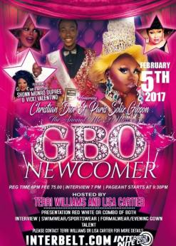Show Ad | Mr. and Miss Gay Black Ohio Newcomer | Interbelt Nite Club (Akron, Ohio) | 2/5/2017