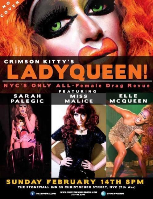 Show Ad | The Stonewall Inn (New York, New York) | 2/14/2016