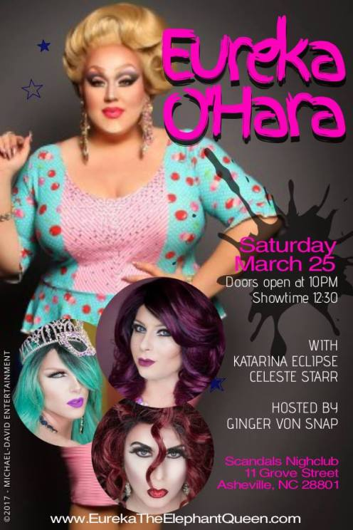 Show Ad | Scandals Nightclub (Asheville, North Carolina) | 3/25/2017