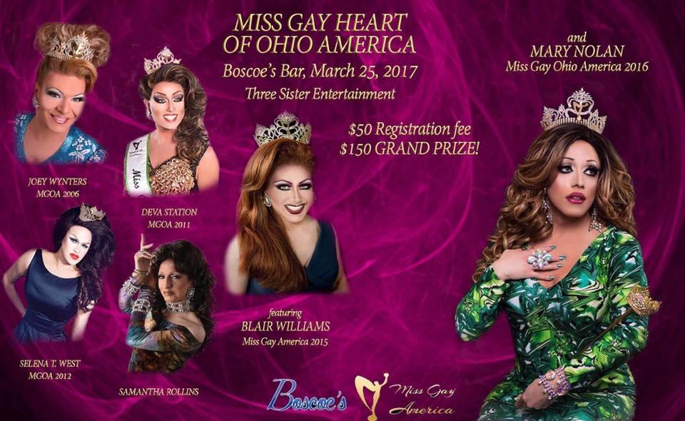 Show Ad | Miss Gay Heart of Ohio America | Boscoe's (Columbus, Ohio) | 3/25/2017