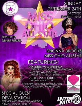 Show Ad | Miss Ohio All-Star | Interbelt Nite Club (Akron, Ohio) | 9/24/2017