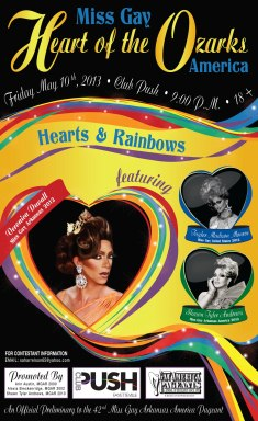 Show Ad | Miss Gay Heart of the Ozarks America | Club Push (Fayetteville, Arkansas) | 5/10/2013