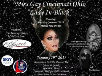 Show Ad | Miss Gay Cincinnati Ohio | The Cabaret (Cincinnati, Ohio) | 1/19/2017