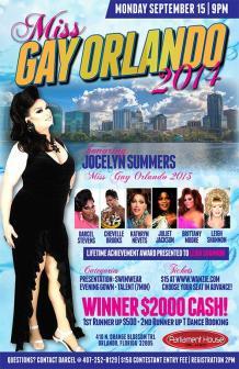 Show Ad   Miss Gay Orlando   Parliament House (Orlando, Florida)   9/15/2014