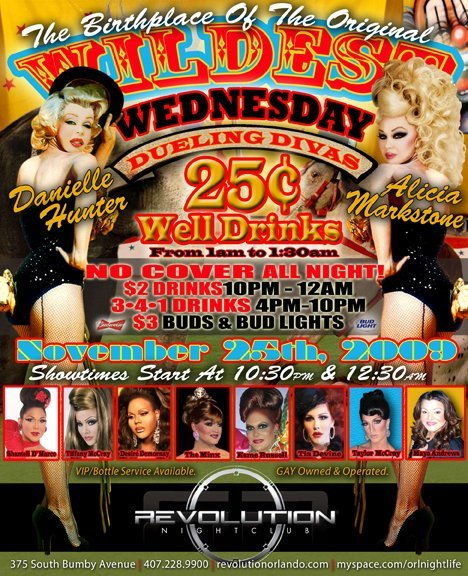 Show Ad | Revolution Nightclub (Orlando, Florida) | 11/25/2009