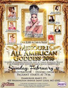 Show Ad | Missouri All American Goddess | Hamburger Mary's (St. Louis, Missouri) | 2/18/2018